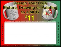 Design Your Own Picture, Drawing or Painting to a MUG