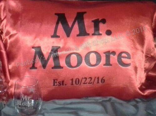 Mr. & Mrs. Personalized Pillowcase