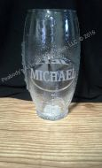 Football Glass Engraved