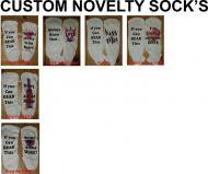Novelty Socks, Valentine's Day, Bring Beer, Bring Wine, Funny
