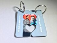 MY OTHER HALF HEART KEY CHAINS - Pair