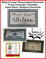 Custom made personalized Door Mat