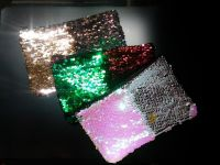 Personalized Reversible Sequin Cosmetic Bag, Mermaid Cosmetic Bag, Hidden Message Zip Pouch, Sequin Cosmetic Bag, Sequin Zipper Pouch